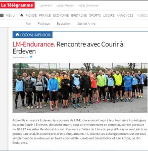 Article Le télégramme - Déc 2015