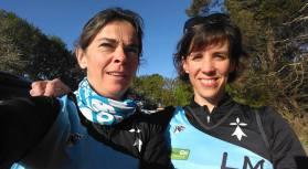 Cécile Déal et Nathalie Liva sur le trail de Ploemel - 01 mai 2016