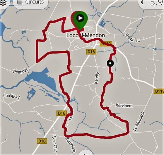 Kervihern -Le Moustoir - Le Cleff - Kerrio - Mane Ménégo - Keriolet  14km.png